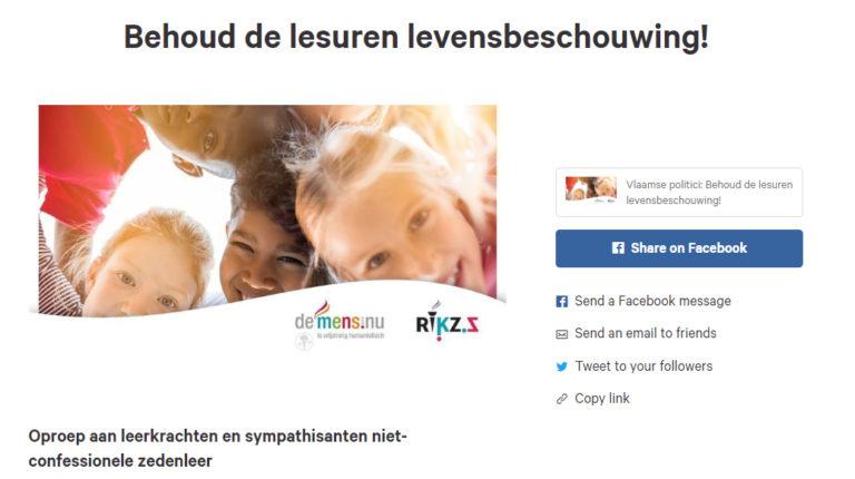 Petitie: teken voor het behoud van de lesuren ncz!