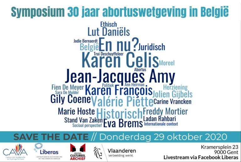 UITGESTELD: Symposium – 30 jaar abortuswetgeving in België