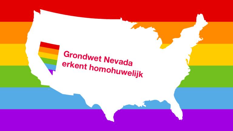 Nevada erkent als eerste staat het homohuwelijk in zijn grondwet