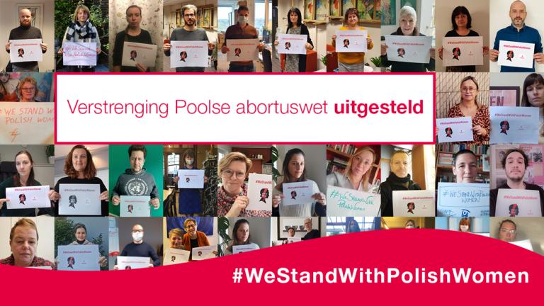 Verstrenging Poolse abortuswet uitgesteld