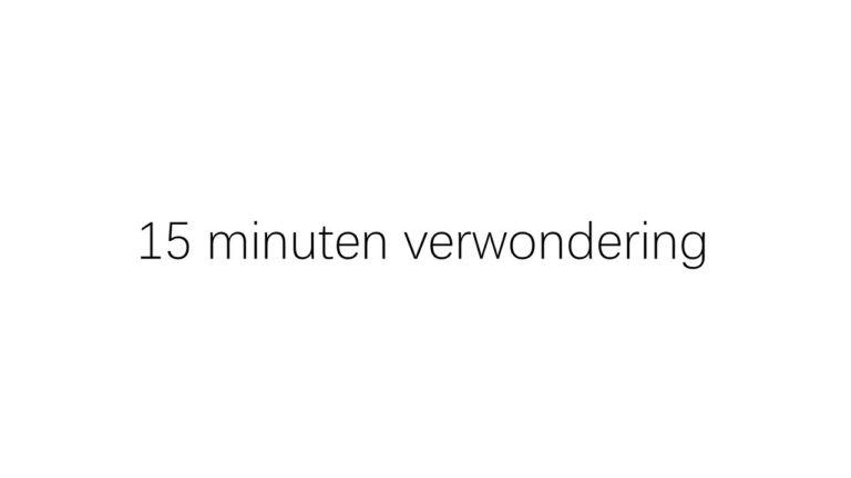 15 minuten verwondering met Jean Paul Van Bendegem