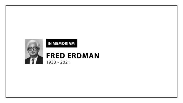 In Memoriam: Fred Erdman